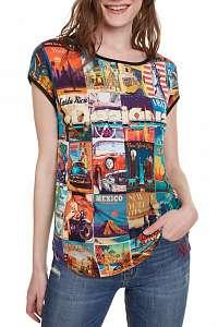 Desigual farebné tričko TS Phoebe - XL
