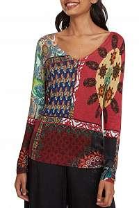 Desigual farebný sveter Jers Michelle - XL
