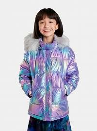 Desigual fialové dievčenská bunda