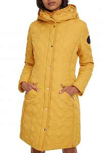 Desigual horčicový kabát Padded Leicester -