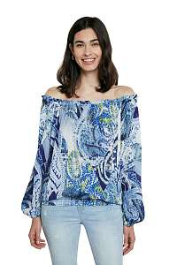Desigual modrá blúzka Blus Sheila