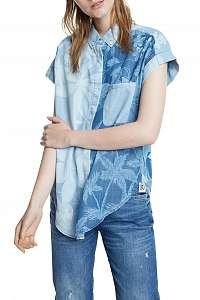Desigual modrá košeľa Cam Bluewai