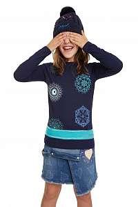 Desigual modré dievčenská tričko TS Rhodeisland - 13/14