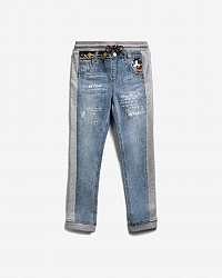 Desigual modré dievčenské džínsy Mickey Mouse Bimaterial