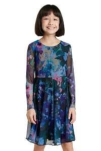 Desigual modré dievčenské šaty Lipa