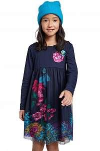 Desigual modré dievčenské šaty Vest Granollers