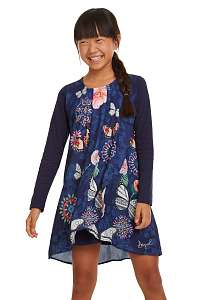 Desigual modré dievčenské šaty Vest Minime