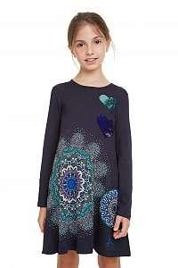 Desigual modré dievčenské šaty Vest Pera