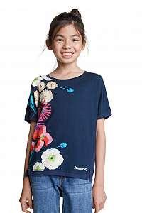 Desigual modré dievčenské tričko TS Rhodeisland