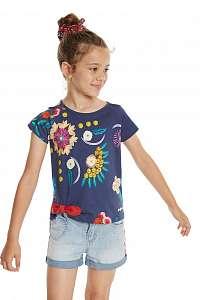 Desigual modré dievčenské tričko TS Tennessee