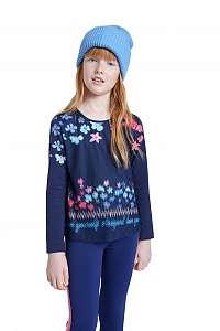 Desigual modré dievčenské tričko TS Texcoco