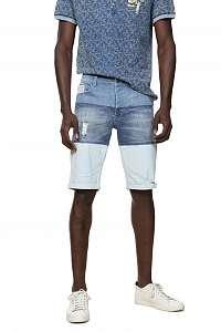 Desigual modré džínsové pánske kraťasy Denim Masali -