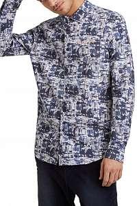Desigual modré pánska košeľa Cam Emil - XXL