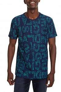 Desigual modré pánske tričko TS Damaso