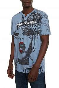 Desigual modré pánske tričko TS Demeter - L