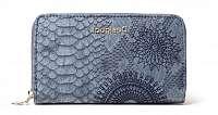 Desigual modré peňaženka Mone Criseida Mini Zip