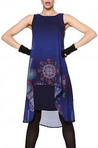 Desigual modré šaty Sabrinnne