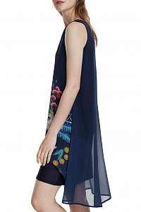 Desigual modré šaty Vest Carnegie