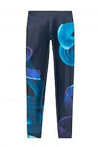 Desigual modré športové legíny Legging Posicional - XL