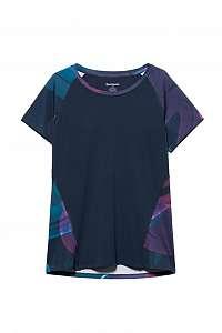 Desigual modré športové tričko Tee Tech Arty - L