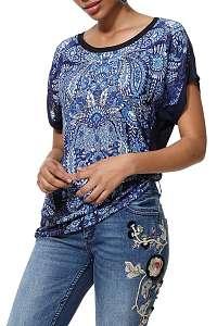 Desigual modré tričko TS Navajos