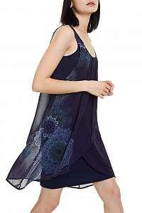 Desigual modré voľné šaty Vest Sevilla -