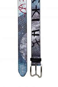Desigual modrý dámsky opasok Belt Denim Revolution - 90