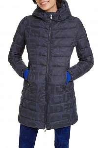 Desigual modrý kabát Padded Letras -