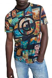 Desigual pánske tričko TS Logan s logom