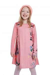 Desigual ružové dievčenské šaty Vest Colima