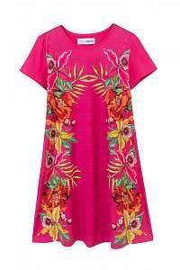 Desigual ružové dievčenské šaty Vest Lucy