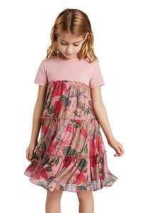 Desigual ružové dievčenské šaty Zafiro