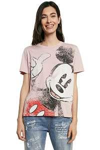 Desigual ružové tričko TS Ok Mickey