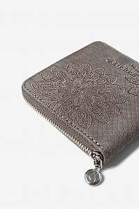 Desigual sivá peňaženka Aquiles Zip Square