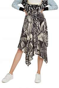 Desigual sivá sukňa Fal Kingsley - L