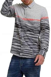 Desigual sivá teplá úpletová košeľa Camilo