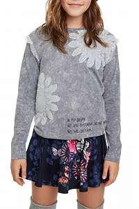 Desigual sivé dievčenské tričko Montbau