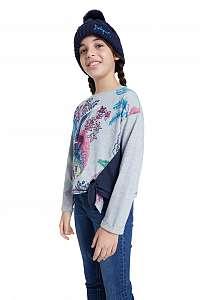 Desigual sivé dievčenské tričko TS Edimburgo