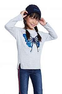 Desigual sivé dievčenské tričko TS Tepexpan