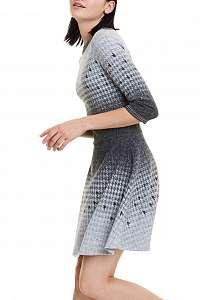 Desigual sivé šaty Vest Miriam - M