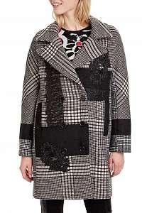 Desigual sivý kabát Abrig Detroit -