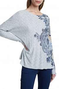 Desigual sivý sveter Jers Pushkar