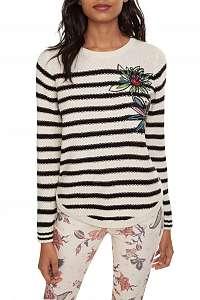 Desigual smotanový sveter Jers Baltimore - XL