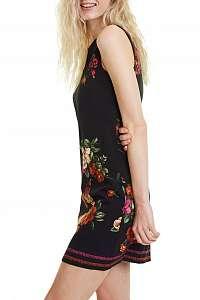 Desigual tmavomodré šaty Vest Lency -