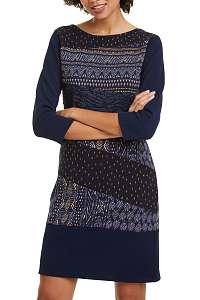 Desigual tmavomodré šaty Vest Rina - M