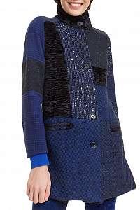 Desigual tmavomodrý kabát Abrig Cartter -