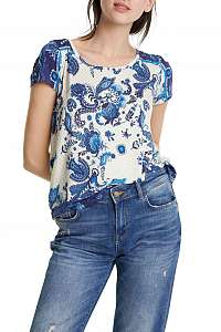 Desigual tričko TS Melian s modrým motívom