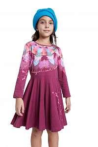 Desigual vínové/bordové dievčenské šaty Vest Nogales