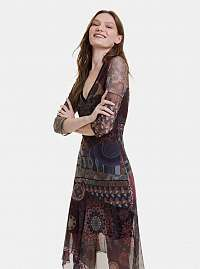 Desigual vínové/bordové šaty Roseville