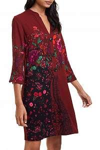 Desigual vínové šaty Vest Valentina -
